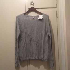 Grey anthropologie knit brand new with tags